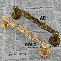 300mm Wooden Glass Door Pull Gold Crystal High Quality Door Handles Antique Zinc Alloy Home Ktv