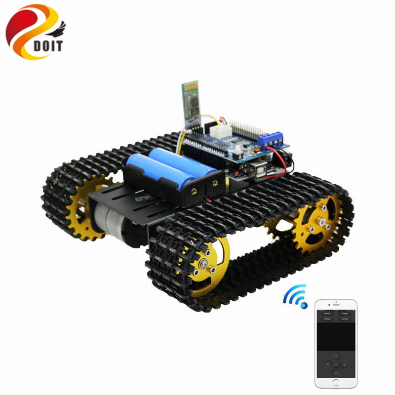 T101 Bluetooth/Handle/WiFi RC Control Robot Tank Chassis Car Kit with UNO R3 Development Board+ Motor Driver Board DIY Toy