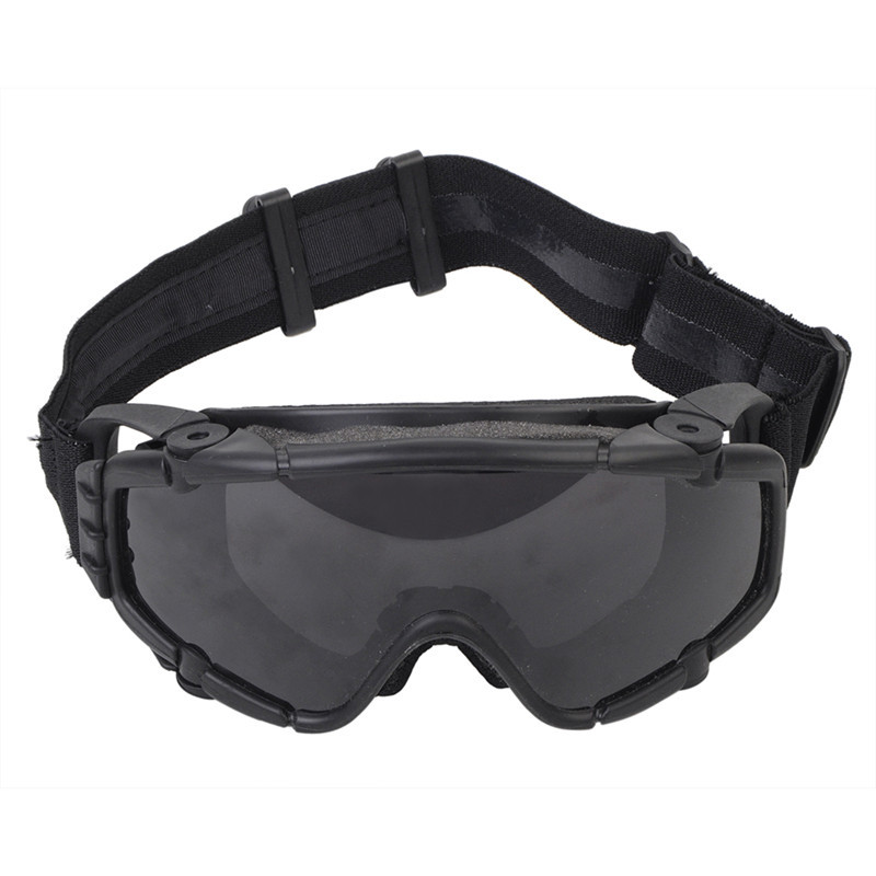 Tactical Anti-fog Anti-dust Safety Goggles Glasses Eyewear with Fan and 1 Interchangeable Lens for Outdoor Airsoft Paintball ...