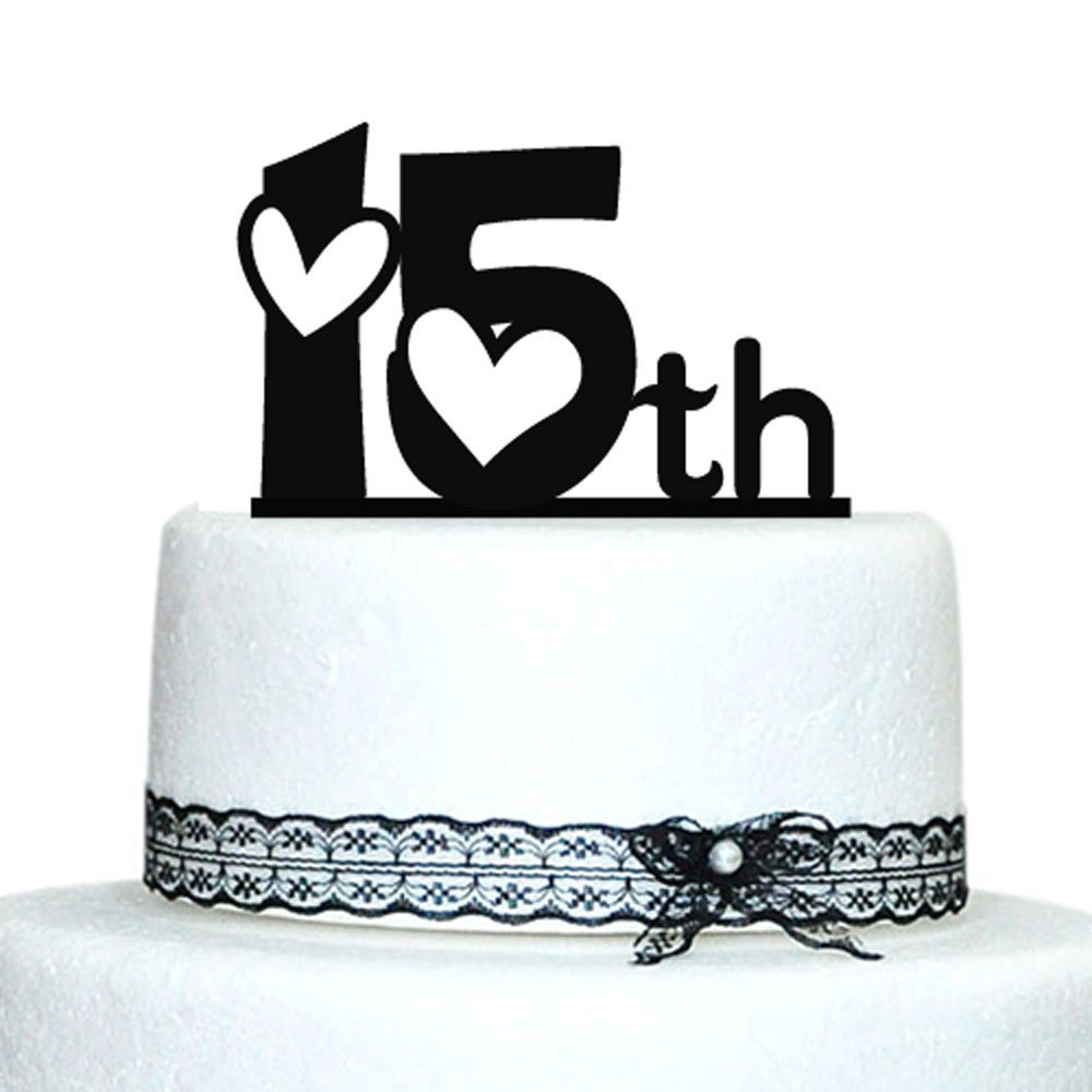 Anniversary Cake Topper With Love Design, Acrylic Cake Topper, Cake ...