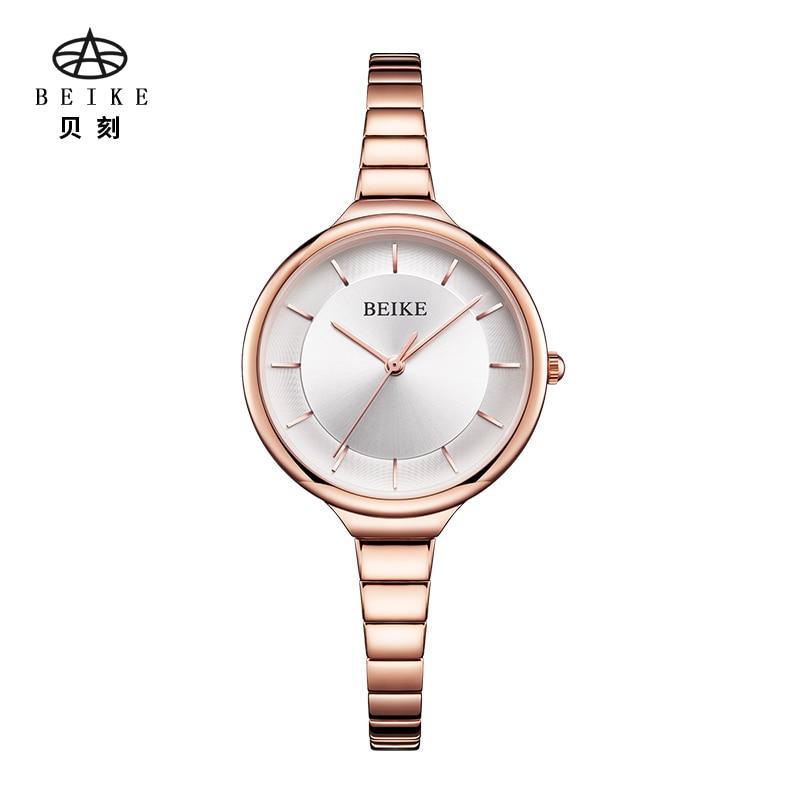 BEIKE Luxury Brand Watches Women Waterproof Stainless Steel Quartz Watch Roman Scale Multi Cutting Surface Mirror Bracelet Watch штатив beike sys500c
