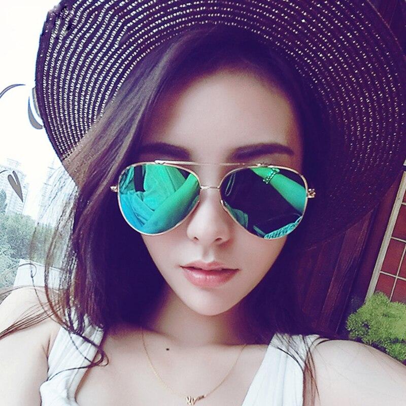 Aviation Sunglasses Women Brand Designer Oversized Mirror Vintage Retro Rose Gold Sun Glasses For Men Female Lady Sunglass