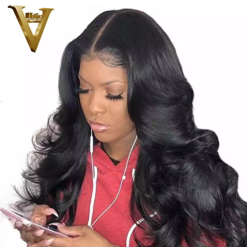 Malaysian Pre Plucked 360 Lace Frontal Wig For Women Remy Body Wave Lace Front Human Hair