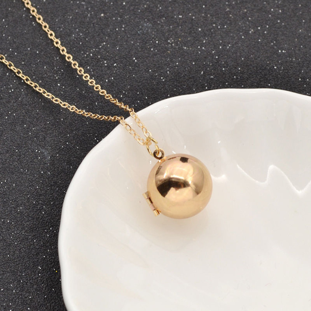 handmade chain necklace friendship gold jewelry silver secret from locket promise ball pendant lockets pendants in necklaces message item love