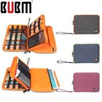 BUBM XS, S, M, L, XL Universal Única Camada Dupla Equipamentos de viagem Organizador/Acessórios Eletrônicos saco/Caso cabo saco Carregador de Bateria