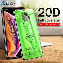 Proelio 20D Full Cover Curved Edge Tempered Glass For iPhone 6 6s 7 8 Plus XS Max Screen Protector On The