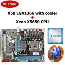 HUANAN combos con USB3.0 cooler CPU x58 placa base X58 LGA1366 CPU Intel Xeon X5650 2 años de garantía
