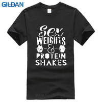 T Shirt Shop Crew Neck Short Sleeve Fashion 2017 Mens Sex Weight Protein Shakes Tee Shirts