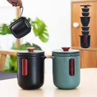 Tetera de cerámica TANGPIN gaiwan con 4 tazas  juegos de té  juego de tazas para té portátil de viaje|Sets de juegos de té| |  -