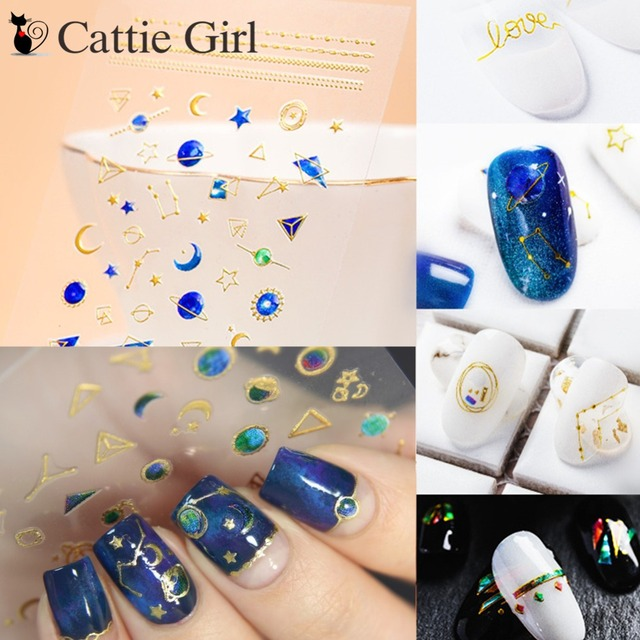 1 Sheet Moon Magic 3D Nail Art Stickers Constellation Universe Nail Design  Transfer Stickers of DIY Nails Accessories 379cdd0ce5bc