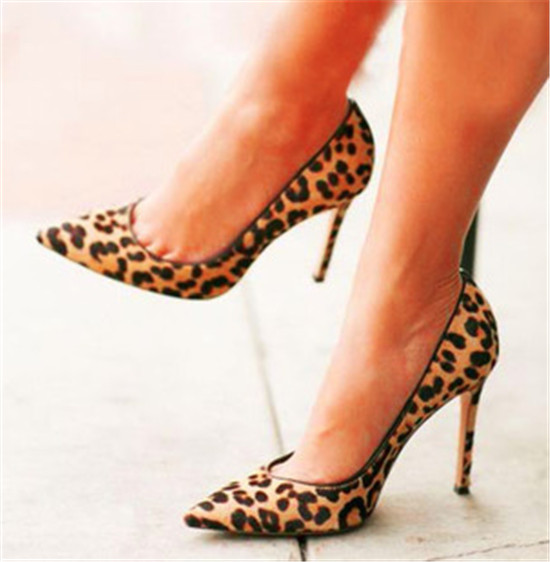 bb1867888cee0 US $68.11 5% OFF|Leopard High Heels Nude Bottom Women Shoes Woman Pumps  Pointed Toe Sexy Stilettos beautiful Shoes Woman Summer Zapatos Muje-in ...