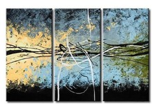 hand-painted wall art blue sky beginning decoration abstract Landscape oil painting on canvas