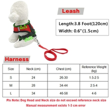 Fashion Pet Vest Harness For Small Dog leash Nylon Cat Harness Set with Leashes For Dog Chihuahua Puppy Red Black Pet Supplies