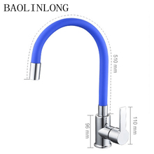 BAOLINLONG New Styling Brass Faucets Cozinha Faucet Swivel Spout adjustable Kitchen Tap