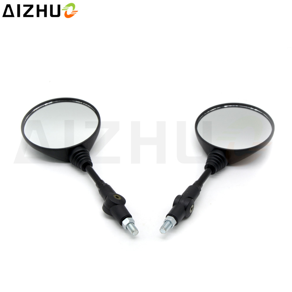 8/10 MM ABS Plastic Motorcycle RearView Mirror Universal Rear View Mirror For Yamaha XJR1300 YBR125  MT-03 XMAX 400 300 FZ8