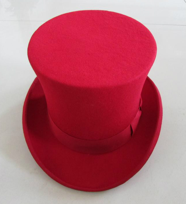 78486bbb 18CM High Black wool top hat for women and men Red White Dark gray new  traditional vintage felt fedora church hats-in Fedoras from Apparel  Accessories on ...