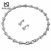 Kalen 새로운 디자인 보석 세트 링크 에펠 탑 매력 칼라 목걸이