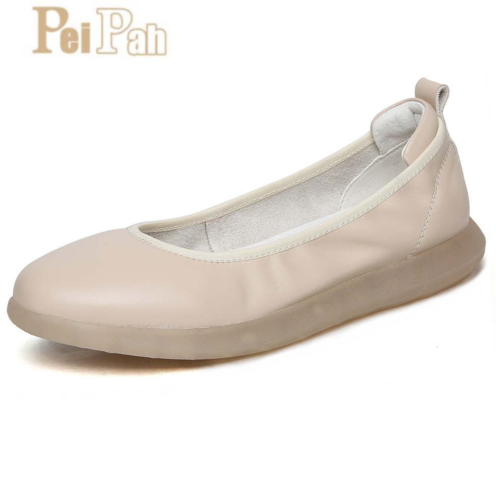 PEIPAH 2019 Summer New Genuine Leather Nurses Shoes Summer Casual Shallow Flat Shoes Solid Comfortable Pregnant Women Peas ShoesPEIPAH 2019 Summer New Genuine Leather Nurses Shoes Summer Casual Shallow Flat Shoes Solid Comfortable Pregnant Women Peas Shoes