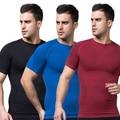 Mens adelgaza faja Tummy cintura vientre cinturón Tee Shirt ropa interior Shapewear