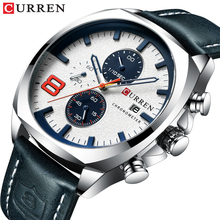 2019 Men Watches Top Brand Luxury CURREN Military Analog Qua