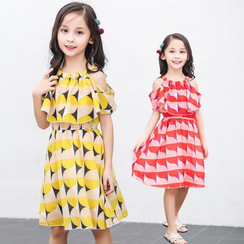Aggressive 2019 Sundress Girls Summer Beach Dress Print Children's Clothes Kids Party Dresses For Girl Princess Holiday Vestidos Jw4674
