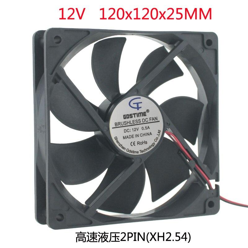 Novo dc 12 v 120x120x25 120mm 12 cm cm cm ventilador de refrigeração de alta velocidade hidráulico