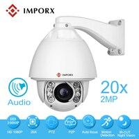 2MP Auto Motion Tracking PTZ IP Caméra Extérieure 1080 P Haute Vitesse dôme Caméra 20x Zooms CCTV Support de Caméra de Sécurité Audio Et SD