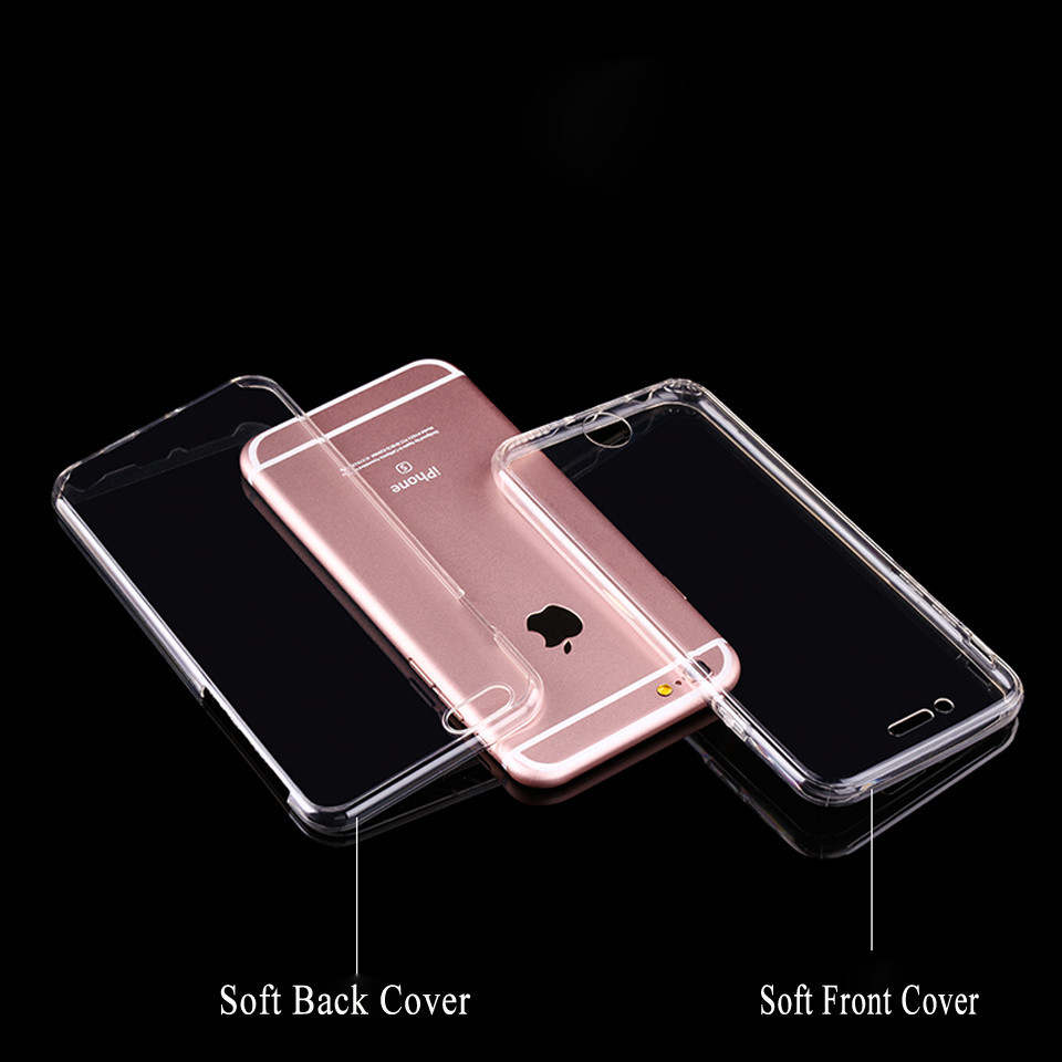 size 40 93e0d 2e09d US $1.81 30% OFF 360 Curve Front + Back Full Body Screen Protector Soft  Silicone Cover For iphone 7 8 Plus 5s 5 SE 6 6s X TPU Rubber Phone Cases-in  ...