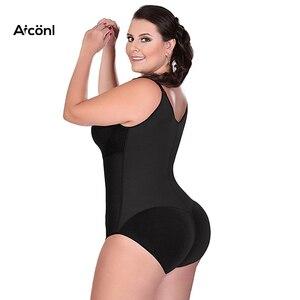 Image 4 - Shapewear women bodysuit Modeling Strap Slimming Corsets control Lingerie body  shaper butt lifter Corrective Underwear Sexy