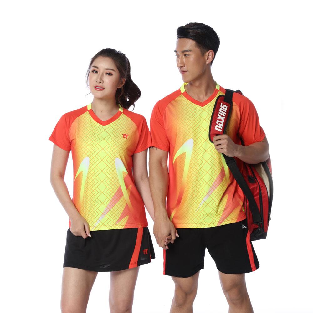 Adsmoney para Homens Jovens e Mulheres-secagem Impressão de Vestuário Roupas de Tênis Rápida Respirável Personalidade Badminton T-shirt Calções