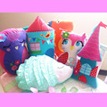 Children room cushion pillow pillow doll toy cute cartoon stereo decorative cotton pillow containing inner core