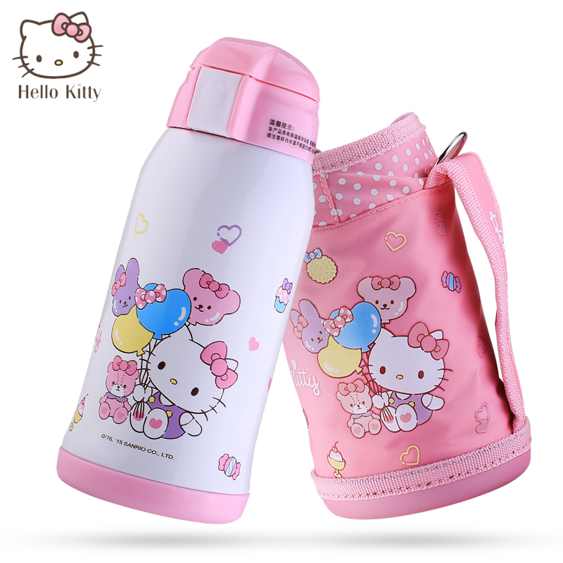 Hello Kitty 600ml Thermos Bottle for Kids Coffee Mugs With Straw Thermal Cup Mugs Insulation Cup