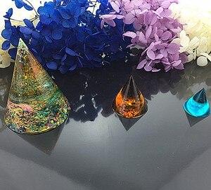 Image 3 - Epoxy de silicona para hacer joyas, moldes de resina hechos a mano, molde de resina, cono Triangular cúbico, herramientas de fabricación de joyas redondas