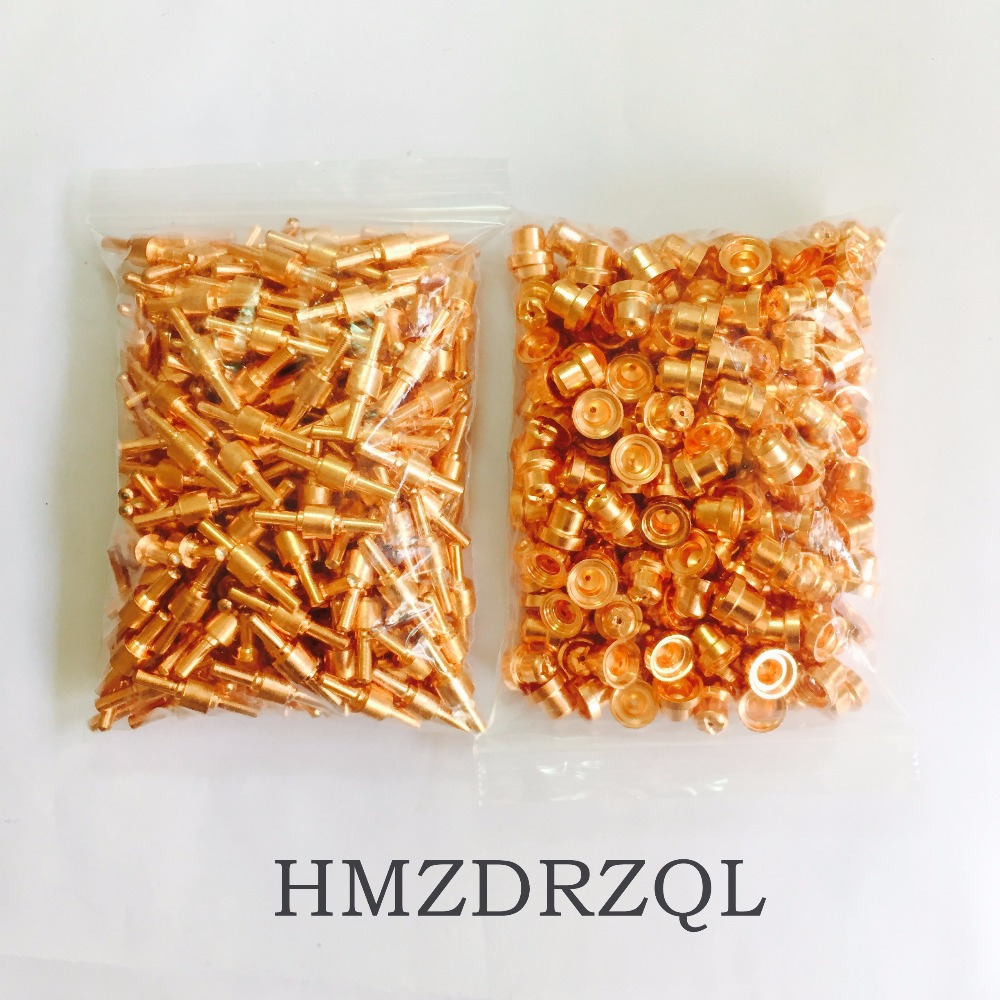 FREE SHIPPING 400Pcs PT-31 Electrode Tip Plasma Cutter Cutting Consumables KIT Plasma Nozzles Fit Cut-40 50D CT-312 PT31 400PK