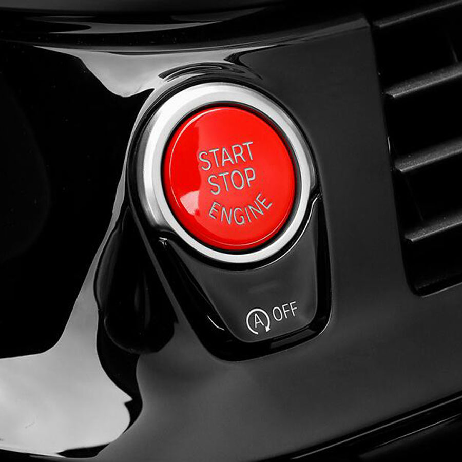 Bmw X6 Red Interior: YAQUICKA Red Car Engine Start Stop Button Replace Cover