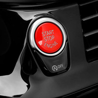 YAQUICKA Red Car Engine Start Stop Button Replace Cover Cap Styling For BMW Series 1 2