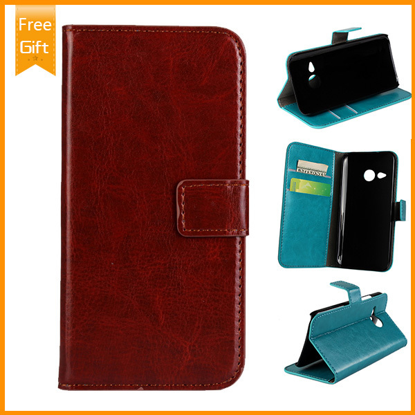 New Leather Wallet Case for HTC One M8 mini 2 Phone,with Card Holder Stand Cover Case for HTC One mini 2 and gift