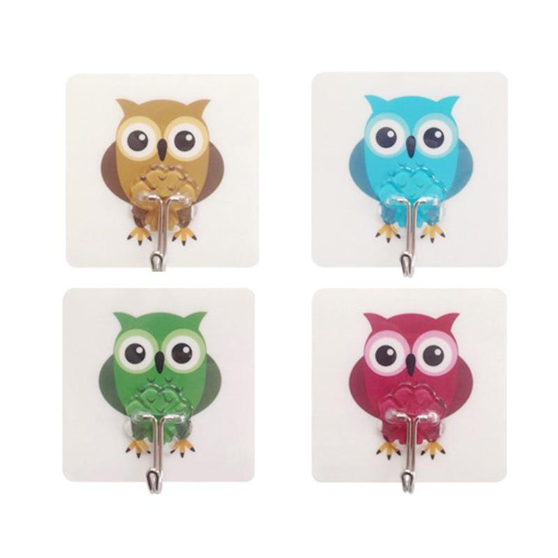 4pcs Owl Kitchen Tools Gadget Decor Convenient Holder Suction Cup Sink  Hanging Storage Rack Hooks Kitchen Accessories