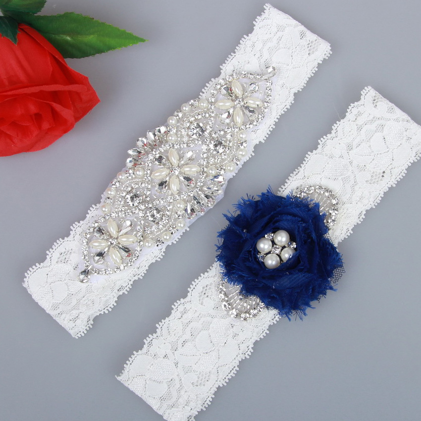 Why Two Garters For Wedding: Bride's Wedding Garters 2Pcs Burlap & Lace Bride Garter