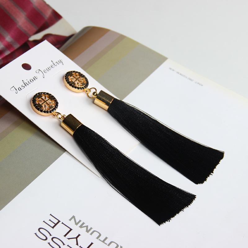 Exaggerated Rhinestone Long Tassel Earrings 2017 New Arrival Fashion Brincos Bijoux Crystal Dangle Earrings Women's Jewelry 5