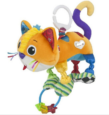 candice guo! super cute plush toy multipurpose colorful cat baby toy rattle star ring bed hang mobile baby gift 1pc ...