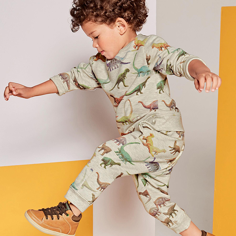 Kidsalon Boys Winter Clothes Children Clothing Sets Animal Tops+Pants Soft Baby Boy Clothes Dinosaur Printed Boys Clothing Sets baby boys sets cartoon dinosaur animal shapes children s clothing spring fall flannel coat with hood pants kids wear 0 2 yrs