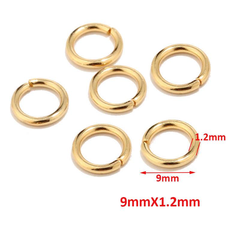 100 pcs คุณภาพสูง Gold Tone สแตนเลสสตีลแหวนสำหรับเครื่องประดับทำอุปกรณ์ผลการค้นหาและสร้อยคอต่างหูซ่อมแซม 5 มม.