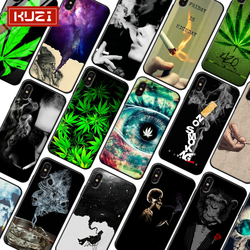 KUZI Unique Design Luxury Phone Case for IPhone 6 S 6S 7 8 Plus Fundas Silicone Cover Iphone X XR Coque Capa