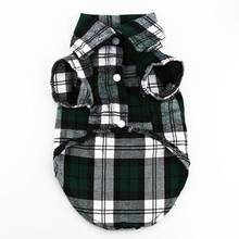 Small Pet Dog Plaid Shirt Lapel Coat Cat Jacket Clothes Costume Top Apparel Set(China)