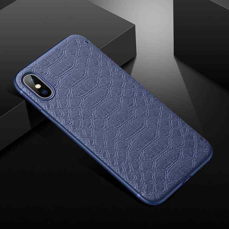 Boucho Ultra - thin สำหรับ iPhone XS Max XS XR กรณีจระเข้โทรศัพท์กรณีสำหรับ iPhone 6 6 s 7 8 Plus X ปกหนัง PU