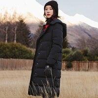 INMAN 2017 Yeni Kış Kapüşonlu Uzun Kalın Sıcak Aşağı Ceket Kadın Gevşek Coat