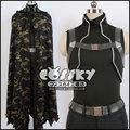Free shipping Sword Art/Gun Gale Online Death Gun Sterben Cosplay Costume Coat/Mantle/Mask SAO for men/women
