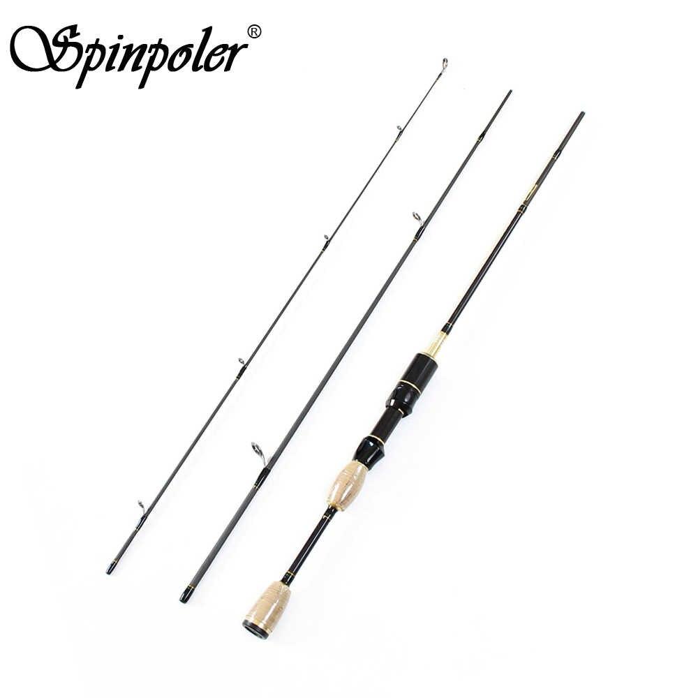 6-Feet spinpoler الخفيفة جدا 1.8 متر المياه العذبة السلمون باس الصيد الغزل قضيب المجاهدين تدور القطب (خط الوزن 2-5lb إغراء الوزن 0.8-5 جرام)