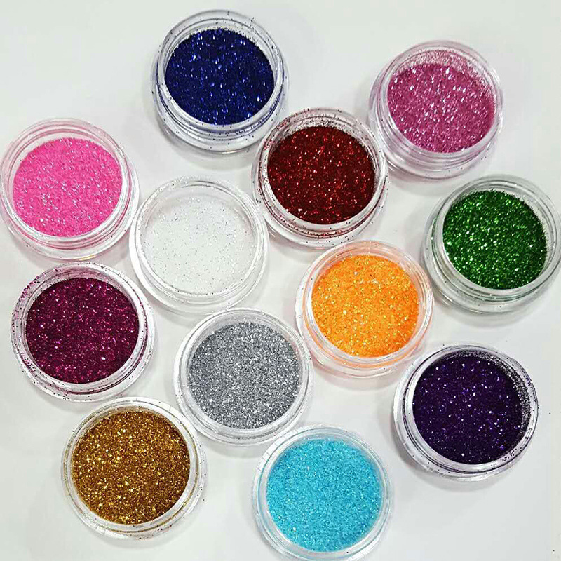 XO002 Wholesale best quality Nail Glitter Powder Shiny Dust Powder Manicure Nail Art Glitter